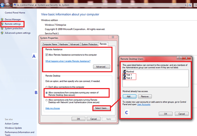 Step By Step On How To Configure Multiple Concurrent Rdp