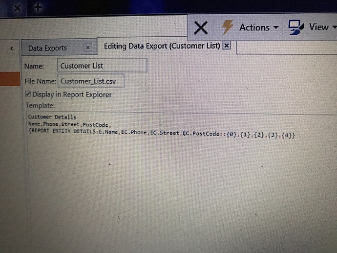 Export customers details name phone etc to excel - V5
