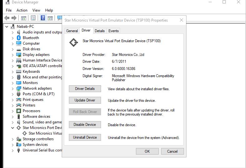 Add driver for star tsp100 printer