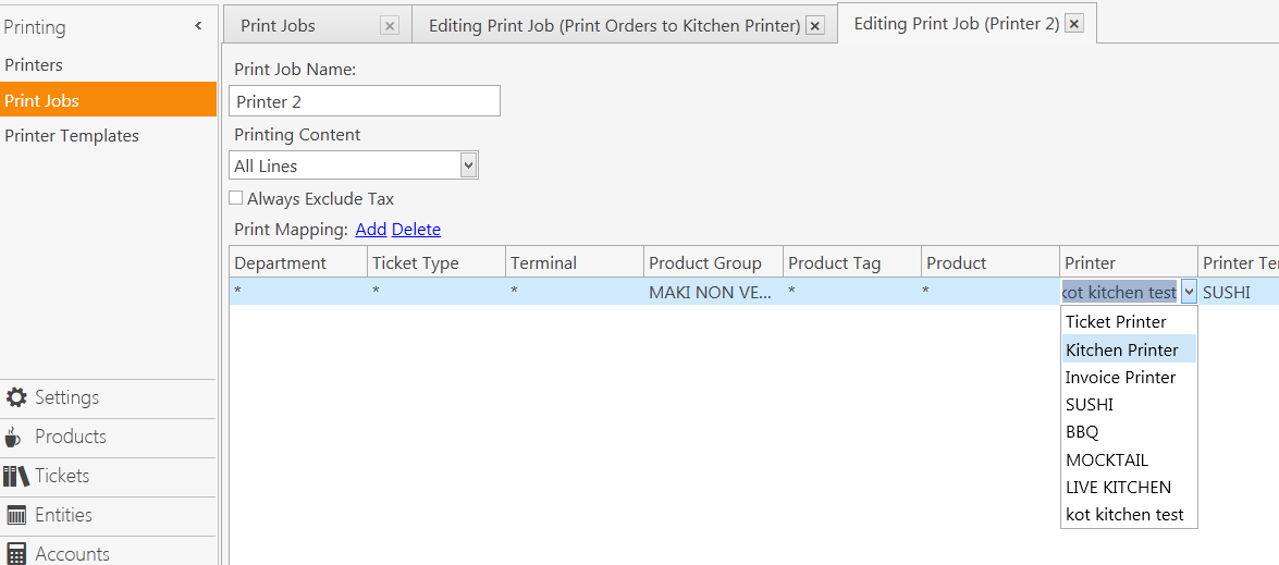 Print 1 Item On Bar Printer And Kitchen Printer Or Have Order Tags
