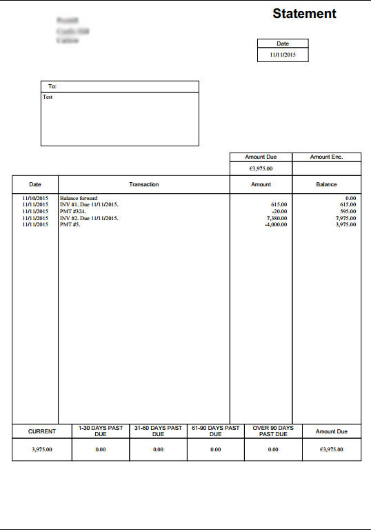 Account Statements With Template Layout  V Question  Sambaclub